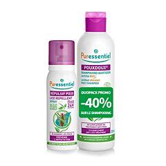 Puressentiel Anti-Luizen Duopack Shampoo 200ml -40% + Luizen Repel Spray 75ml