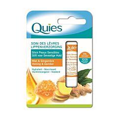 Quies Lippensverzorging Gevoelige Huid Honing & Gember 1 Stuk