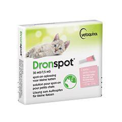 Dronspot Spot-On Ontworming Oplossing - Kleine Katten - >0,5-2,5kg - 2 Pipetten
