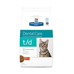 Hills Prescription Diet Dental Care T/D Kattenvoer Kip 1,5kg