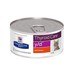 Hills Prescription Diet Thyroid Care Y/D Kattenvoer Kip 156g