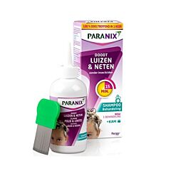 Paranix Behandelingsshampoo Luizen & Neten 200ml + Gratis Kam