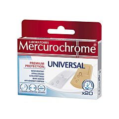 Mercurochrome Universal Pleisters 20 Stuks