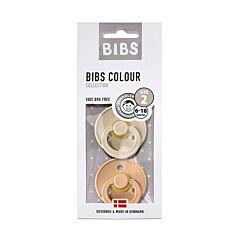 Bibs Fopspeen Duo Vanilla/Peach 6-18M 2 Stuks