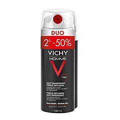 Vichy Homme Deo Triple Diffusion Spray 72u Duo 2e -50% 2x150ml