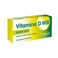 Vitamine D Will 50000IE 4 Zachte Capsules