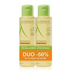A-Derma Exomega Control Emolliërende Doucheolie 2x500ml Promo 2de -50%