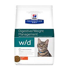 Hills Prescription Diet Digestive/ Weight Management W/D Kattenvoer Kip 5kg