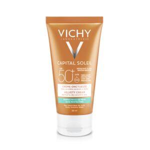 Vichy Capital Soleil Fluweelachtige Crème SPF50+ Tube 50ml