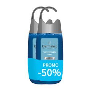 Dermalex Douchegel Mannen 2x250ml Promo -50%