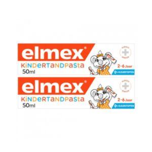 Elmex Kindertandpasta 2-6 Jaar Duo Promo 2x50ml