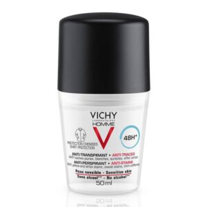 Vichy Homme Deodorant Roller Anti-Transpirant Tegen Vlekken 48 Uren 50ml