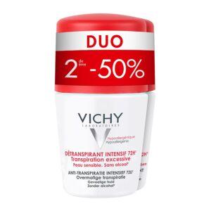 Vichy Deo Anti-Transpiratie Intensief 72u Roller Duo 2e -50% 2x50ml