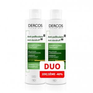 Vichy Dercos Anti-Roos Shampoo Droog Haar Duopack 2x200ml Promo 2de -40%
